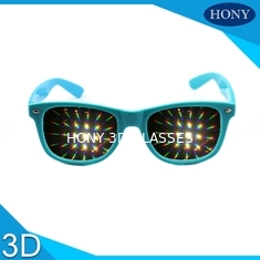 Trendy Flip Clip 3D Fireworks Glasses With Diffraction Lenses OEM / ODM
