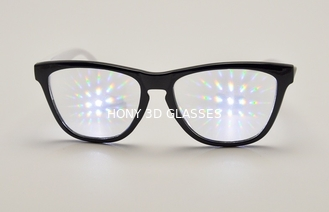 Plastic 3D Fireworks Glasses Customized Diffraction , rainbow glasses