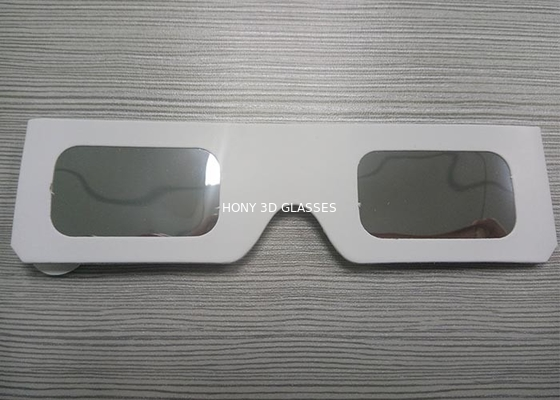 China Modifique las gafas del eclipse solar de la cartulina/los vidrios de visión del eclipse para requisitos particulares blanco del color fábrica