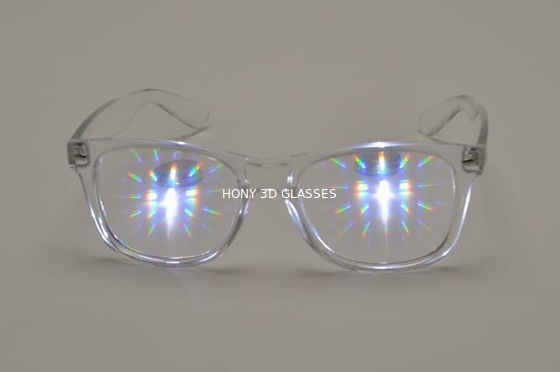Light Shows Plastic 3D Fireworks Glasses Thicken Lens CE FCC RoHS