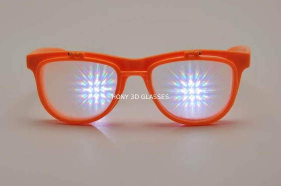 Plastic Frame 3D Firewowks Flip Up Glasses Double Diffraction Effect