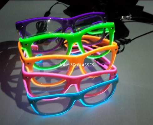 Sound Activated El Wire Glasses