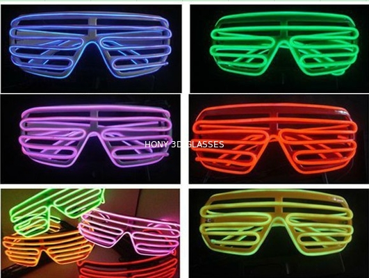 Shutter Shade El Wire Glasses