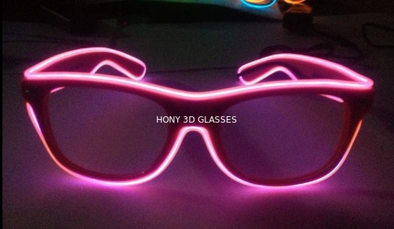 High Brightness Orange El Wire Glasses For Party Show With Pc Plastic Frame