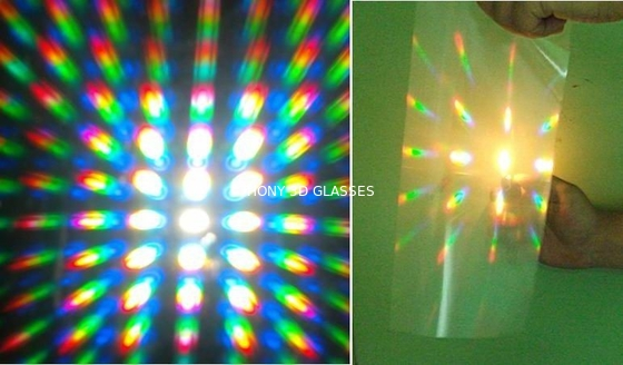 Viewing 3D Firework Glass Laser Show With Powerful Diffraction Effect